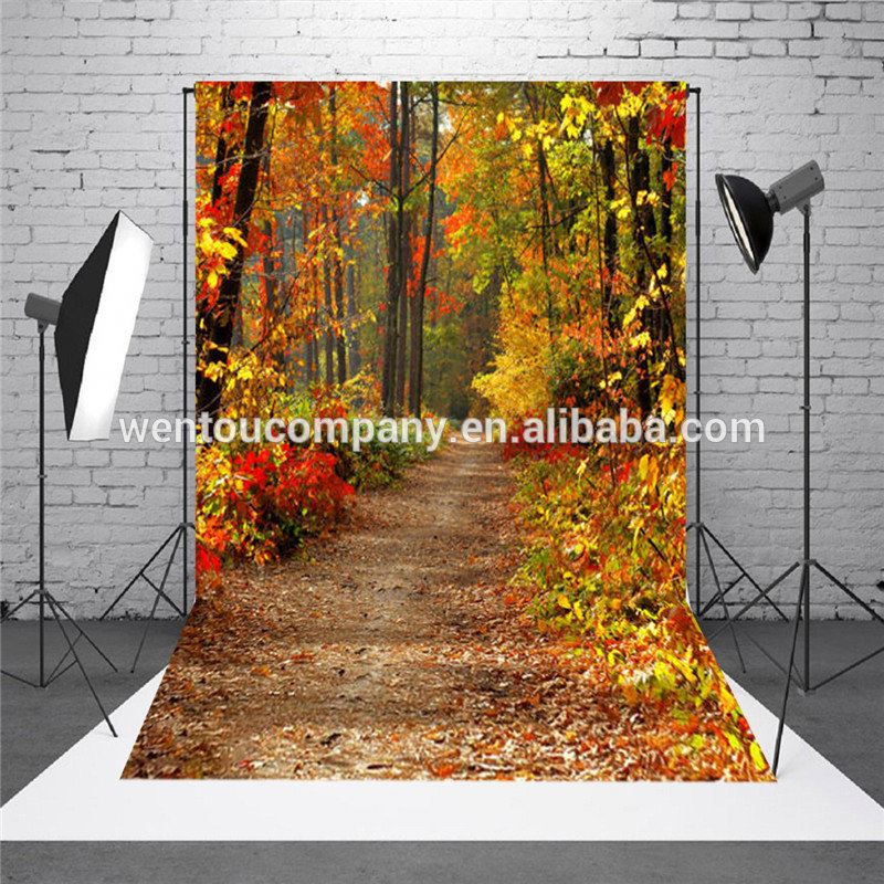 5x7FT Autumn Fall Forest Photography Vinyl Background Studio Photo Backdrops