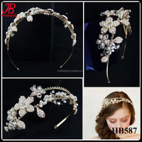 pearl and rhinestone luxury bridal hair accessories wedding
