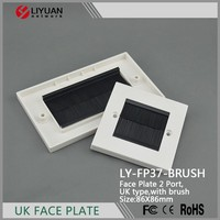 LY-FP37-BRUSH 86*86 Wall brush face plate standard network port faceplate