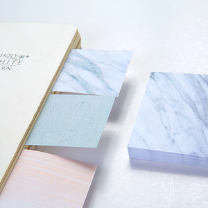 Wholesale Stock Small Order Creative Marble Vein Message Mini Adhesive Sticky Notes