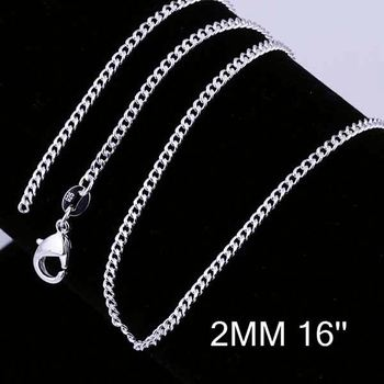 new simple design factory price 925 silver chain silver leg chains cc01516