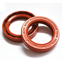 Red Fkm Double Lip Epdm Material Tc Oil Seal