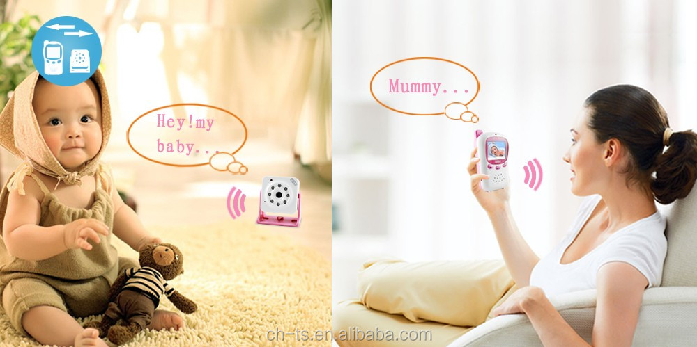 hot sell baby care device audio video baby monitor with 2.4inch lcd display camera lens