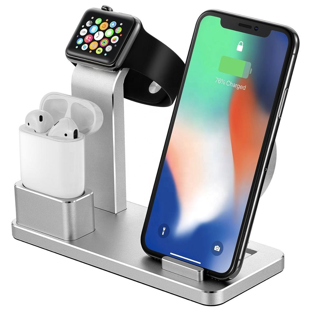 2019 Hot selling 4 in 1 Aluminum Alloy New Technology Detachable Wireless Charger Pad Charing dock фото