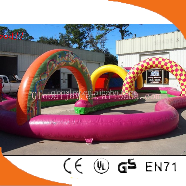 Latest design inflatable race track/Outdoor race track inflatable car road racing track