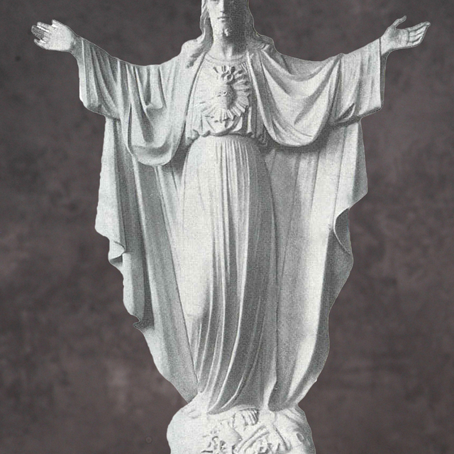 Religious Decoration Stone Carving Life Size White Marble Jesus Garden  Statue