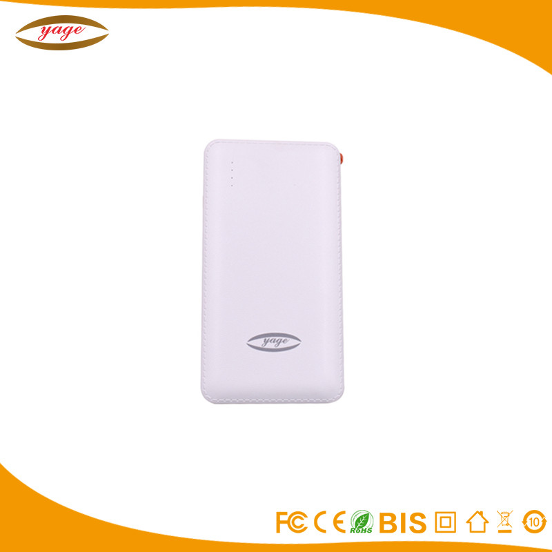 Nice power banks 6000mah good quality with conversion cable polymer lithium battery mobile power bank for charging