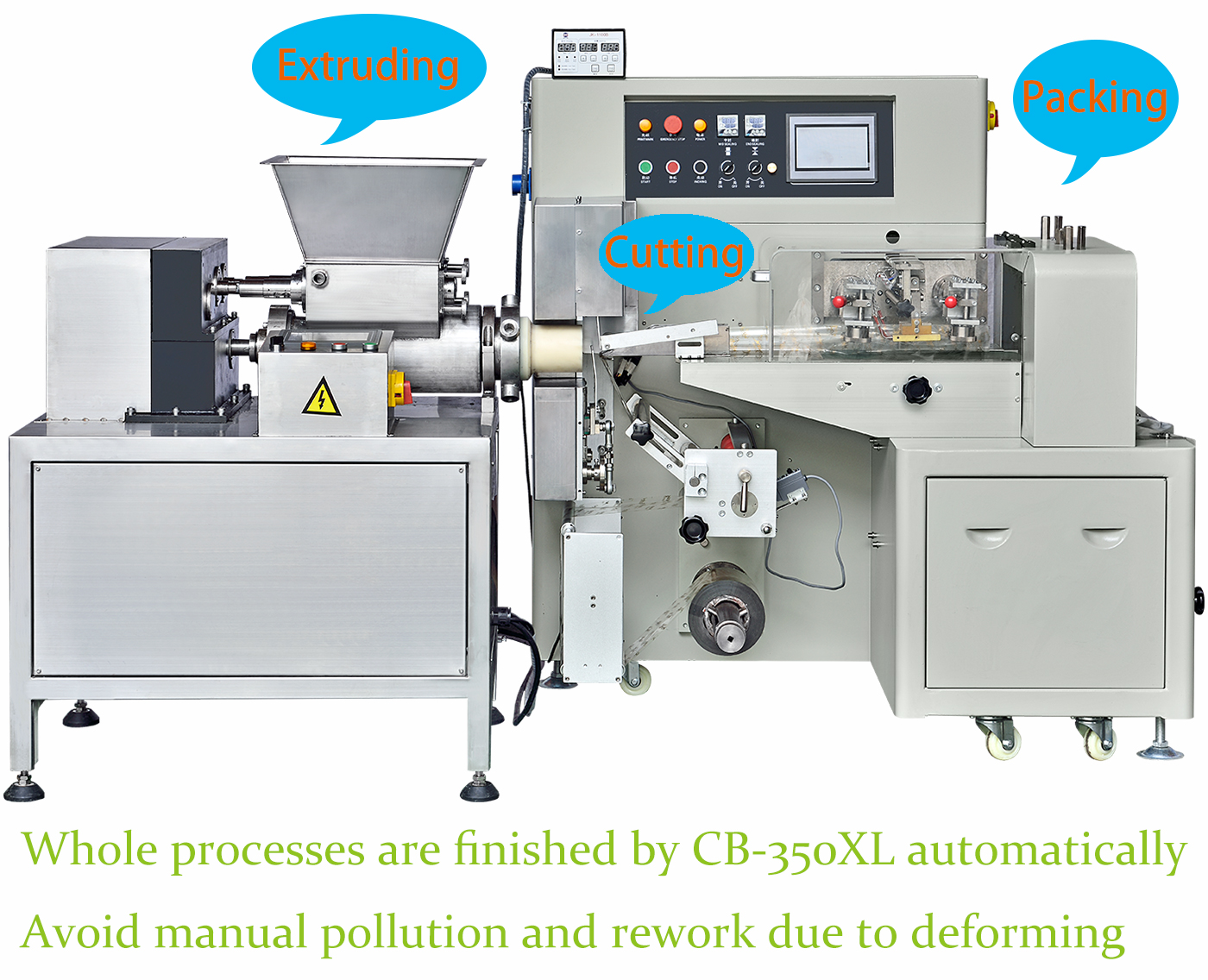 Kids modeling clay/soap clay shrink packaging machine heat sealer extruder machine