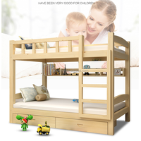 kid's bunk bed european style twin over full bunk bed