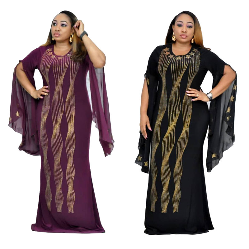 90428-MX51 fashion plus size elegant maxi hot drilling Evening dresses фото
