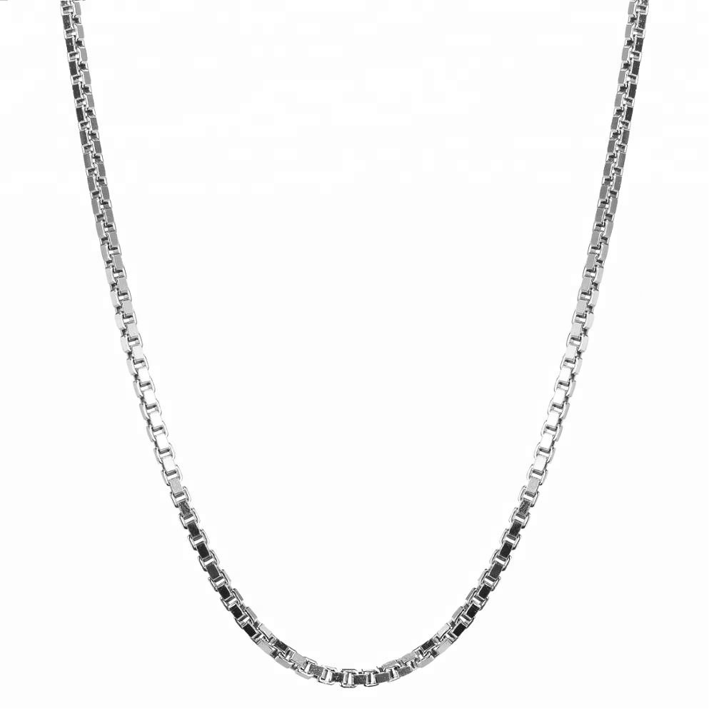 925 sterling zilver basic zilver chain, italië vierkante snake chain 0.8mm in maat 16/18/20/22/24 inch