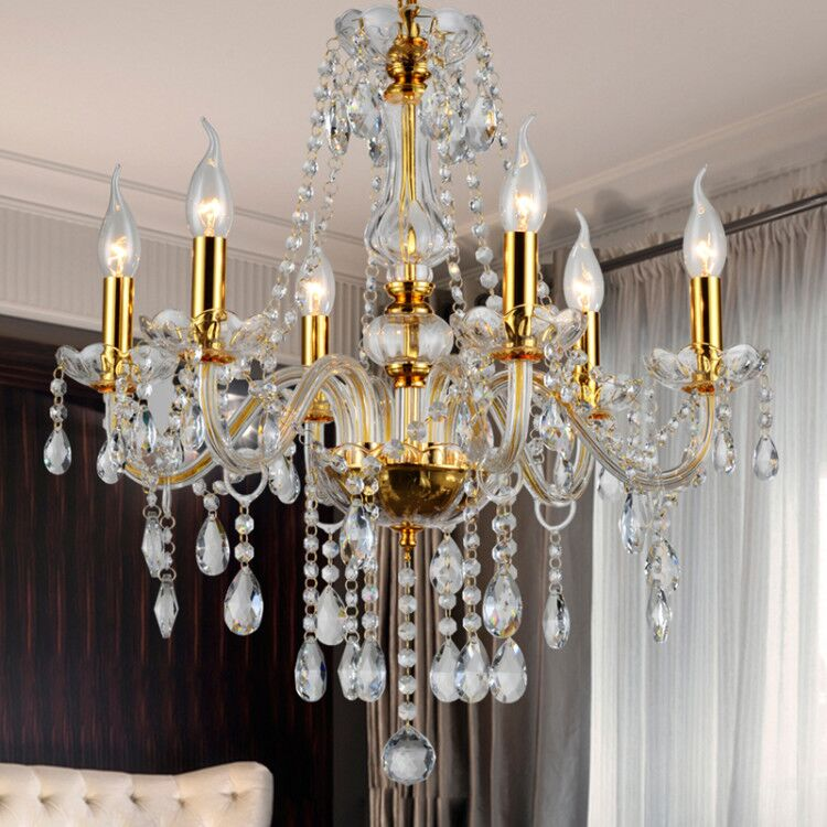 Custom Czech French Empire Modern Luxury Stairs Lobby Crystal Hanging Led Glass Lamp Chandelier Pendant High Ceiling Light