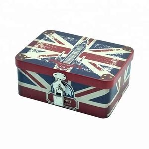 European fashionable lolly tin jar box with lock