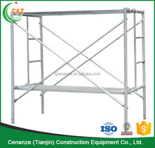 Galvanized Ladder Frame Scaffolding Systems Construction