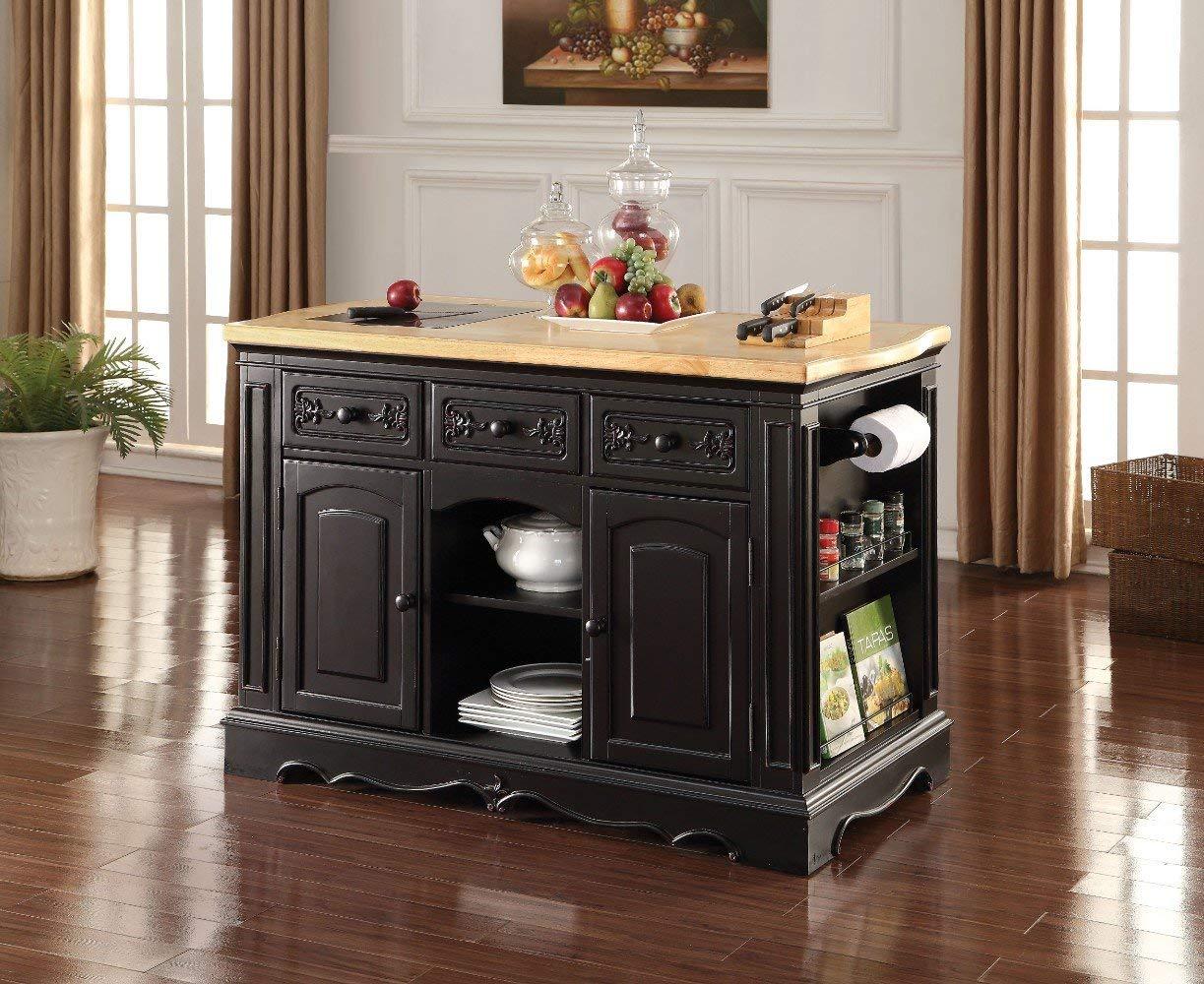 Get Quotations Benzara Bm163020 Wooden Kitchen Cabinet Black