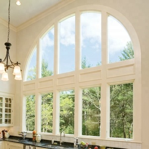 Aluminum frame arched window with double glass