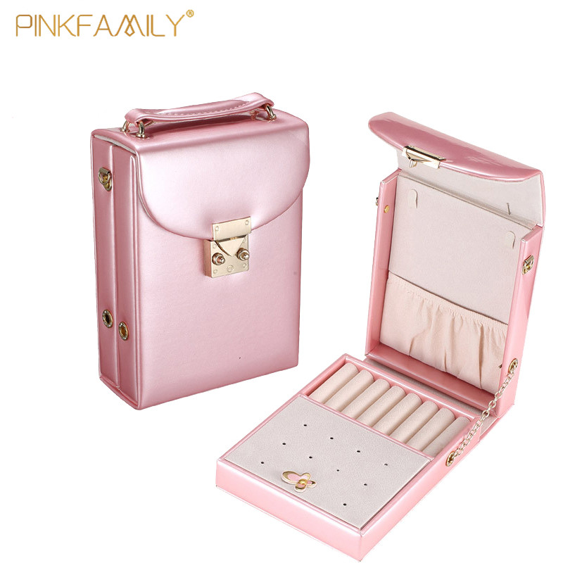 High quality jewelry travel case leather jewelry bag fashion for girls