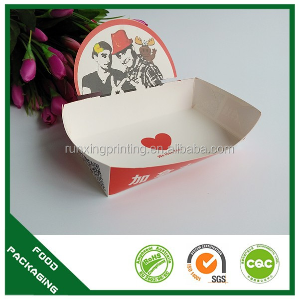 French fries paper food container holder