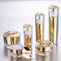 Golden Yellow Luxury Jar Cosmetic Packaging Bottle Set,Cosmetic Packaging Set