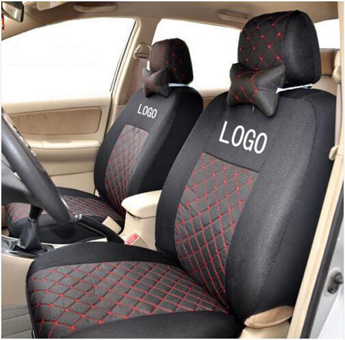 breathable embroidery logo customize car seat cover for toyota rav4 highlander prado corolla. Black Bedroom Furniture Sets. Home Design Ideas