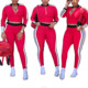 80322-MX101 Cotton Jumpsuit Romper Long Sleeve red jumpsuit women