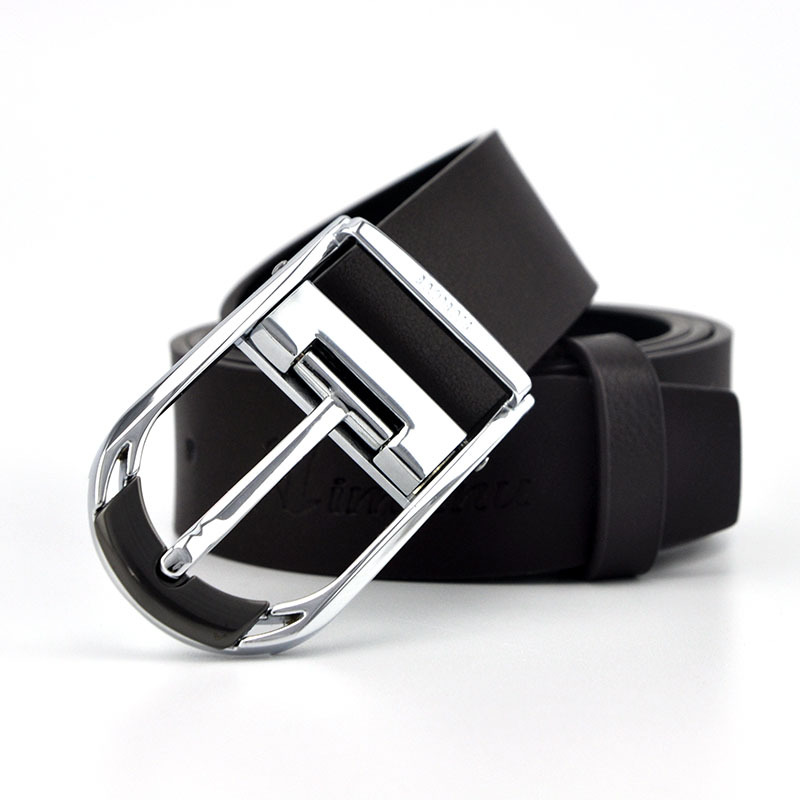 Business 2015 New Fashion Rotary pin buckle Real leather Designer Belts for men Luxury Color Black Brown Available