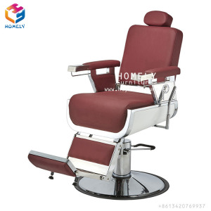Professional Wholesale High Quality Upholstered Seat Adjustable Rotates Barbershop Barber Chair Reclining Salon Styling Chair