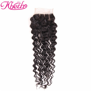 customized 100% human hair closure brazilian lace front closure 4x4 closure
