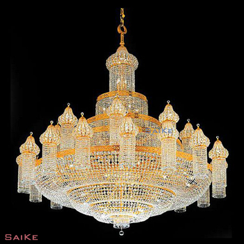Pakistan custom made large crystal mosque chandeliers for church