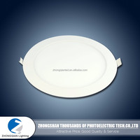 Long working life 60LM/W 15W milky round housing led panel ceiling light