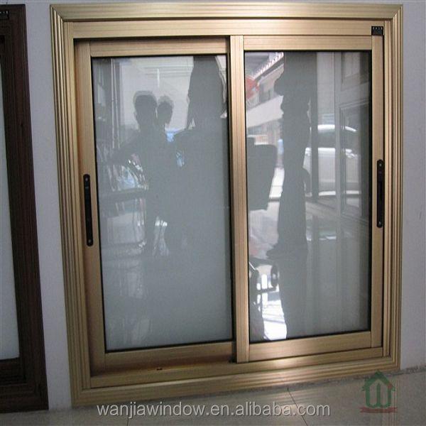 Bronce anodizado marco de la ventana de aluminio y vidrio for Ventanas de aluminio color bronce