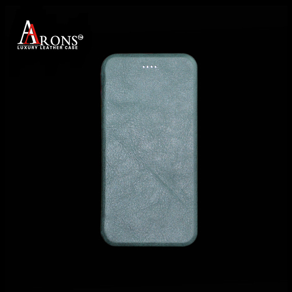 Customize folio opening leather cover for iphone 6 plus battery case