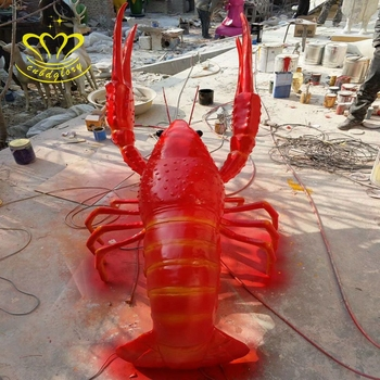 Outdoor Playground Garden Home Decor Wholesale Fiberglass New Product Cartoon Shrimp Sculpture