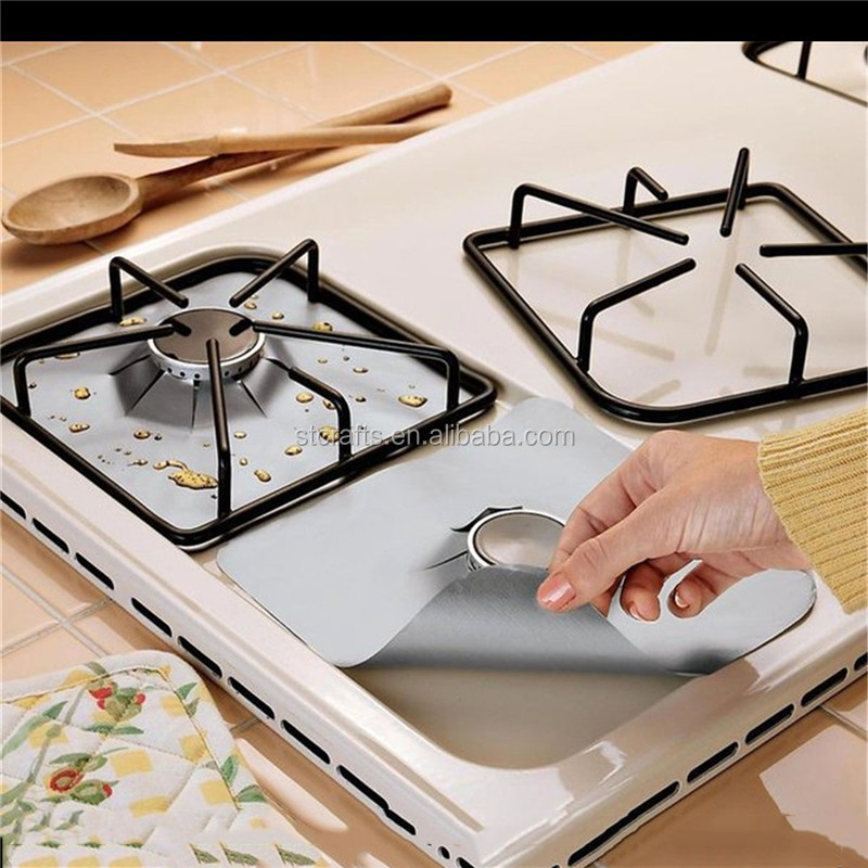 Reusable glass fiber mat easy keep clean for <strong>gas</strong> stove burner cover covers protection mat kitchen tools accessories