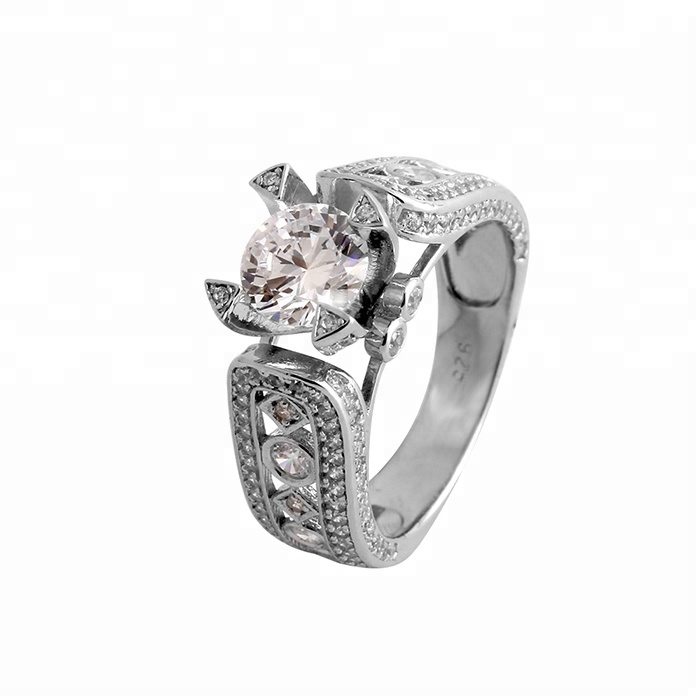 Missjewelry High Quality 925 Sterling Silver Jewelry Zircon Hip Hop Ring for Men фото