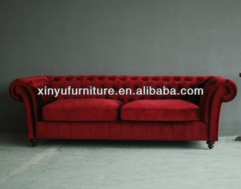 100% Velour Fabric Two Seater Sofa Set Design European Style ...