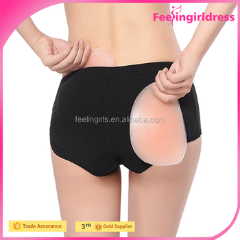 051859efa Soft Women Underwear Hip Padderd Panties Silicone Buttock Sexy Butt Pads