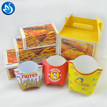 KFC Disposable Chicken Paper Packaging Take Away Fried Chicken Container