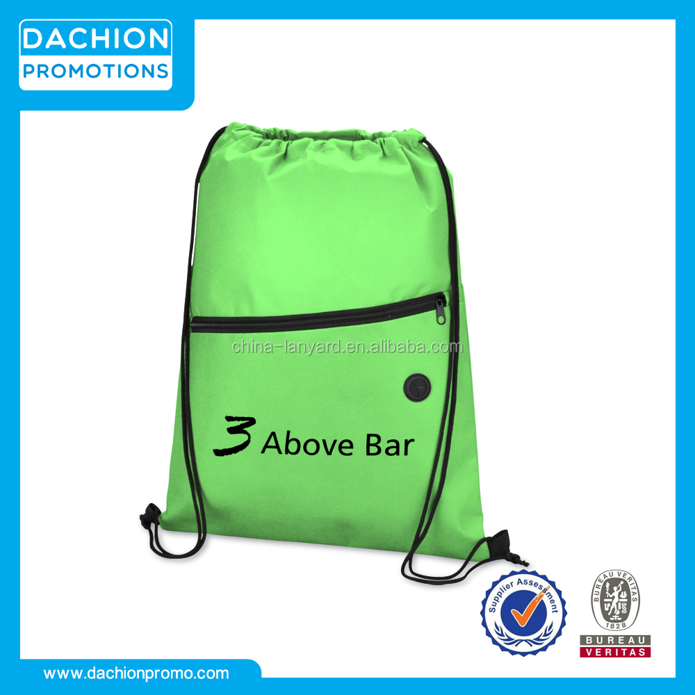 a598fab5a683 Custom Harmony Non-Woven Sportpack Promotional Non-Woven Drawstring Backpack