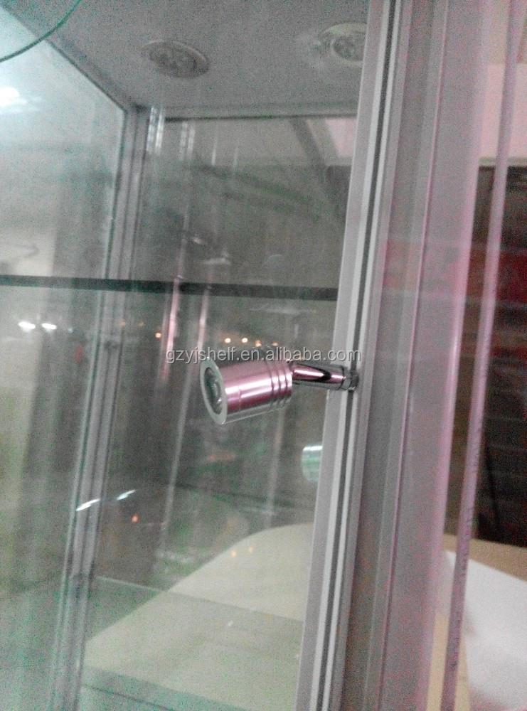 Display de cristal vitrina/independiente torre de aluminio puerta ...