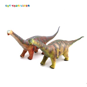 Amazon Hotsale Animal Green Soft Rubber Toy Dinosaurs With Music