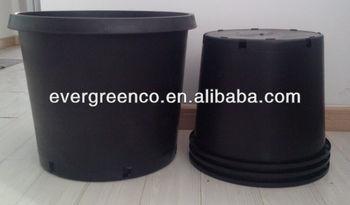 PP Large Outdoor Plastic Pots, Black Garden Pots, Gallon Flower Pot, Black  Plastic