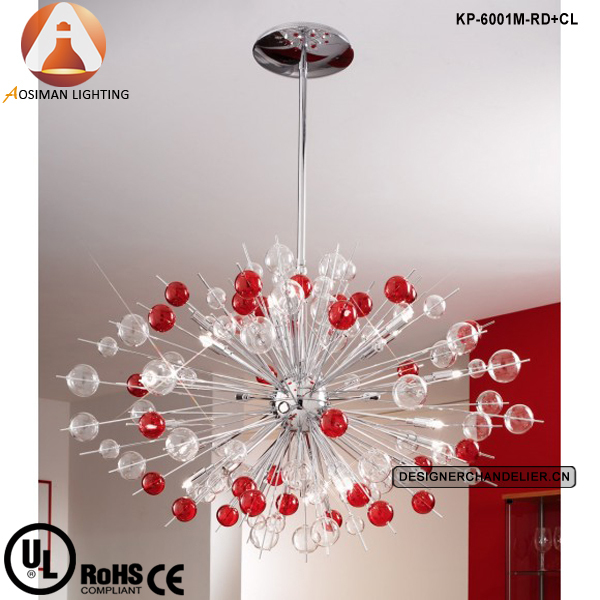 China red glass pendant lighting wholesale alibaba modern glass balls chandelier in red and clear chrome plated pendant light mozeypictures Choice Image