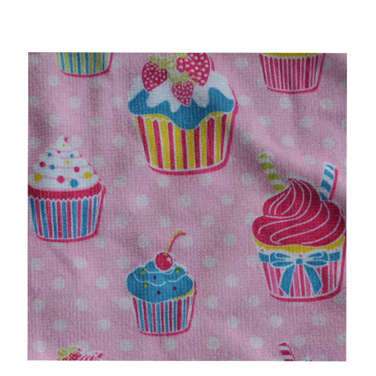 Cloth label disposable hand towels cotton dish towels cake printed cute towel