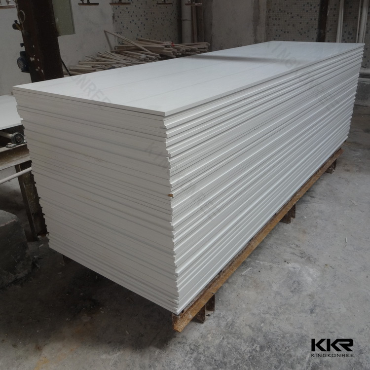 White Acrylic Bathtub Wall Surround Solid Surface Sheets