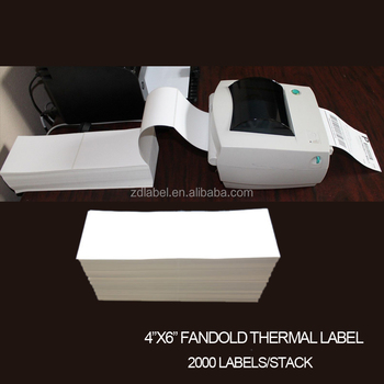 Zebra Barcode Printer Direct Thermal Paper Fanfold Label Sticker For  Shipping - Buy Fanfold Label Sticker,Thermal Paper Fanfold Sticker,Thermal