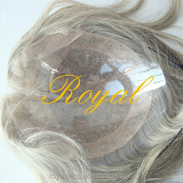 mono top mix white hair middle age old guy long indian remy hair topper  topee wig for men women ecbee0bfa