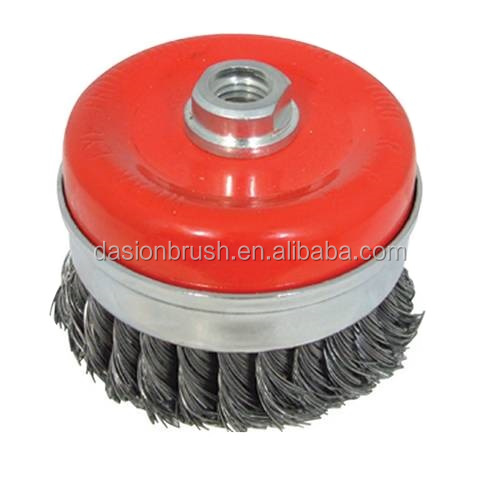 Twist Knot Wire Cup Brush For Angle Grinders