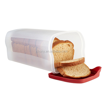 Specialty Plastic Food Storage Containers Bread Keeper Red Food