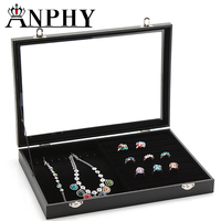 ANPHY A24 Cosmetic Display Stand Boxes Carrying Cases Ring Earings Storage Box Jewelry Organizer